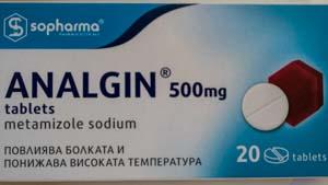 Anti-douleur Analgin